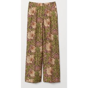 H&M William Morris & Co High Waist Floral Pants